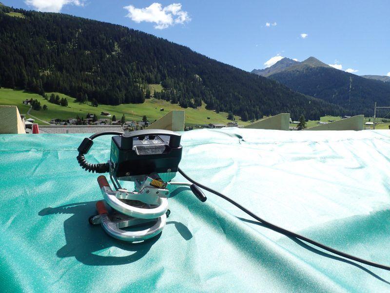 Weldy Miniwelder Geo2 zgrzewanie folii dachowej