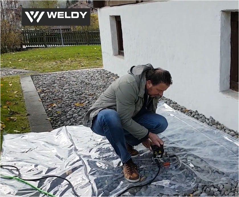 Zgrzewanie cienkiej folii PE za pomocą zgrzewarki Weldy Miniwelder TEX1